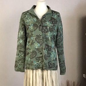 Sigrid Olsen Asian-inspired sweater/jacket. Medium